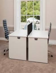 actiu office furniture. used white 1400mm actiu office desks furniture