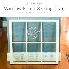 Picture Frame Seating Chart Window Frame Seating Chart Damsel With A Drill