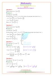 class 12 maths chapter 2 miscellaneous exercise 2 inverse trigonometric functions