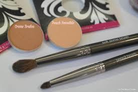 makeup geek peach smoothie and creme brulee