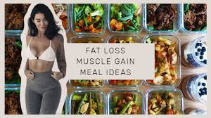 meal prep with me easy fast high protein meals for fat loss