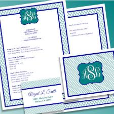 Cover Letter For Sorority Resume Digital Printable Sorority Recruitment Packet With Resume Added By 25