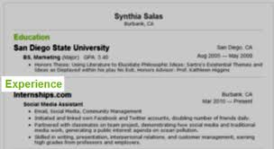 How to Include Internship Experience on Your Resume