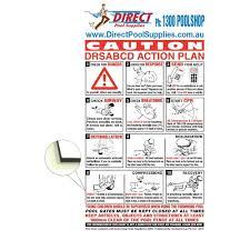 Steel Aluminium Cpr Resuscitation Pool Sign Direct Pool Supplies