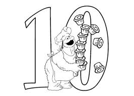 Small Picture Sesame Street Coloring Pages Numbers Periodic Tables