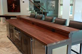 Kitchen island with bar top Range Wooden Kitchen Bar Ideas Island Top Bar Countertop With Contemporary Design Of Kitchen Other Wooden Spanishorientationcom Wooden Kitchen Bar Ideas Island Top Bar Countertop With Contemporary