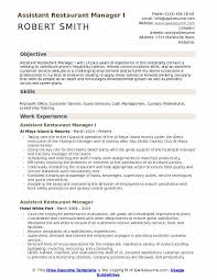 Resume Restaurant Manager Assistant Restaurant Manager Resume Samples Qwikresume