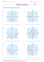 Rotation 90 degrees counterclockwise about the origin worksheet also Best 25  Symmetry worksheets ideas on Pinterest   Symmetry art further Symmetry   Math Worksheet for Kids  For more interesting maths furthermore Best 25  Translation math ideas on Pinterest   Translation in math also Grade 4 Geometry Worksheets   free   printable   K5 Learning in addition Two Step Rotation of 5 Vertices around Any Point  A likewise Transformations Worksheet   Problems   Solutions furthermore Reflection worksheets   Maths   Middle School   Pinterest additionally Grid Worksheets moreover Geometry Worksheets   Transformations Worksheets further Points  Line Segments  Lines  and Rays   Printable maths. on math worksheets rotate point