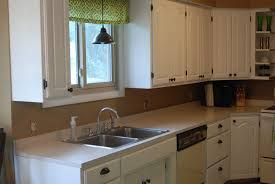 Kitchen Cabinets With Windows Paint Kitchen Cabinets White Before And After Painting Kitchen