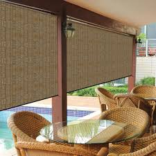 coolaroo walnut exterior roller shade 48 in w x 96 in l