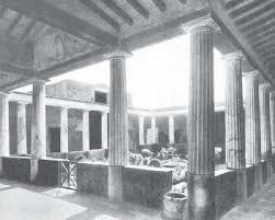 Римские нравы быт и повседневная жизнь Крах и падение Римской  Перистиль в доме Менандра Помпеи