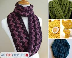 Easy Crochet Scarf Patterns For Beginners Free Best 48 Quick And Easy Crochet Scarves AllFreeCrochet