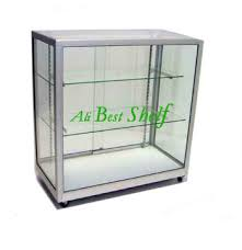 In Store Display Stands Hot sale glass and wood display counter retail store display stand 99