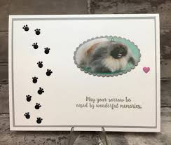 sympathy card pet sympathy card for the loss of a beloved pet stamping with blythe