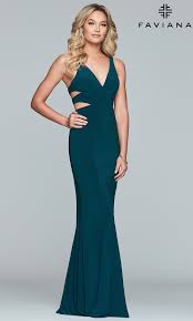 Long Faviana V Neck Evening Dress