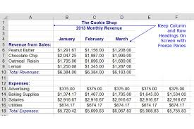 Freeze Column And Row Headings In Excel With Freeze Panes