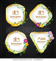 Tag Shape Template Vector Flower Tag Shape Modern Template Stock Vector Royalty Free