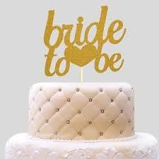 Bride To Be Glitter Wedding Cake Decoration Bridal Shower Cake