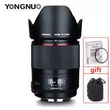YONGNUO YN35MM F1.4 geniş açı Canon lensi parlak diyafram başbakan DSLR  kamera lensler Canon 600D 60D 5DII 5D 500D 400D lens|Kamera Lensleri