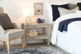 furniture for a beach house. Gray Beach House Rustic End Table / Nightstand - PresEARTH Driftwood Furniture For A N