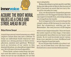 kli acquire the right moral values as a child and  acquire the right moral values as a child and stride ahead in life
