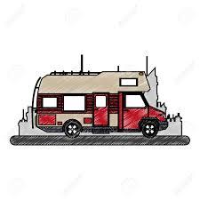 Camper Van Graphics Design Camper Van Vehicle Vector Illustration Graphic Design