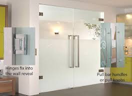 bespoke frameless glass double doors are an elegant contemporary solution