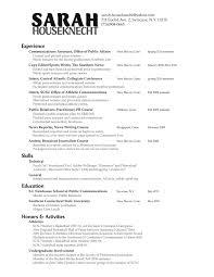 Resume Public Relations Examples