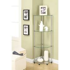 Glass shelves bookcase Ideas Convenience Concepts Designs2go No Tools Tier Corner Shelf Multiple Colors Walmartcom Walmart Convenience Concepts Designs2go No Tools Tier Corner Shelf