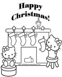 Small Picture httpcoloringscocoloring pages for girls hello kitty christmas