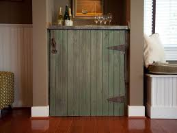 how to build a rustic dry bar