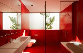 Red Floor Tiles Kitchen Red Tile Bathroom Ideas Creative Bathroom Decoration