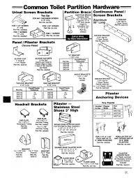 bathroom partitions hardware. Toilet Partition Hardware - Common Brackets, Anchors Bathroom Partitions