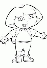 Kleurplaat En Een Plaatje Van Dora Kinderspeelpleinnl