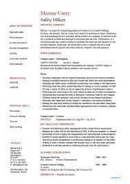 Resume Template Office Amazing Safety Officer Resume Health Sample Template Job Description