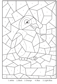 Small Picture Free Printable Penguin At The Zoo Colour By Numbers Activity For
