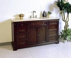 60 inch vanity top single sink left side