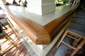 woodform concrete countertops refinished concrete with new wood edge wood vs concrete countertops