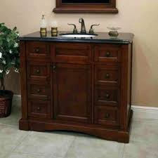 42 inch bathroom vanity. Peach Wall Color With Traditional Mahogany 42 Inch Bathroom Vanity Granite Top Using Concrete Floor Design