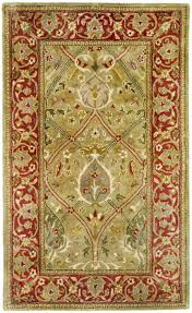 safavieh persian legend pl819b light green and rust