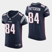 Patriots Navy Color Men's Patterson Rush Jersey Limited Cordarrelle -