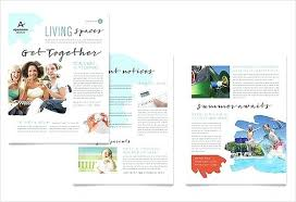 Winter Newsletter Template School Free Creative Part