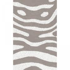 zebra shaped grey white 5x8 outdoor rug