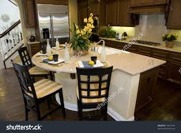Granite Island Kitchen Luxury Kitchen With A Modern Granite Island Stock Photo 16451629
