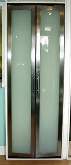bifold closet doors with glass. Modern Bifold Closet Doors Bi Fold Chrome Frame White Glass . With R