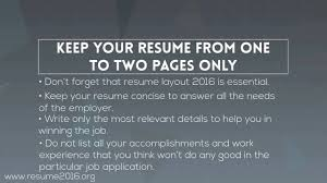 How To Write The Best Resume 2016 Youtube