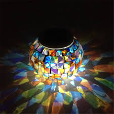Mosaic Power And Light Us 15 82 35 Off Newest Solar Power Mosaic Glass Ball Garden Light Colorful Changing Yard Balcony Lamp Waterproof Indoor Outdoor Light For Partry In