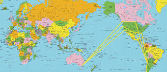 Flat Earth Flight Patterns Magnificent Flight Routes Southern Hemisphere