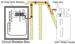 technical information hot water heater wiring