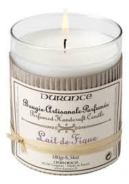 Durance <b>ароматическая свеча perfumed</b> candle fig milk 180г (инжир)